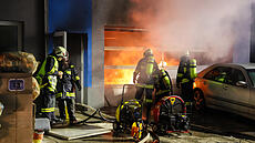 Brand in einer Garage in Pichl